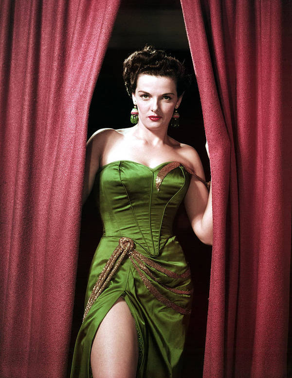 Bustier Poster featuring the photograph Jane Russell, Portrait by Everett