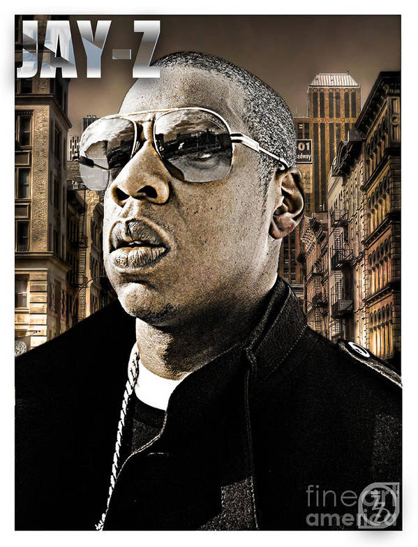 Shawn Carter Poster featuring the digital art Jay Z by The DigArtisT