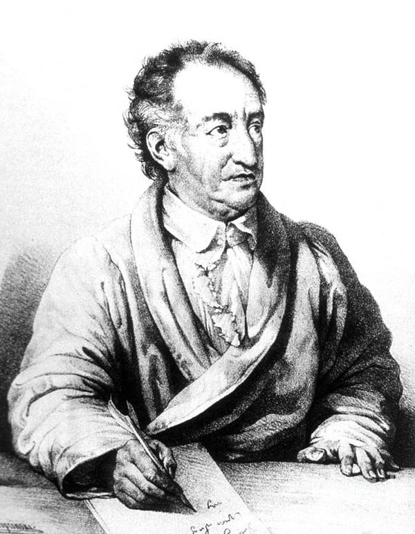 Johann Wolfgang Von Goethe German Poster