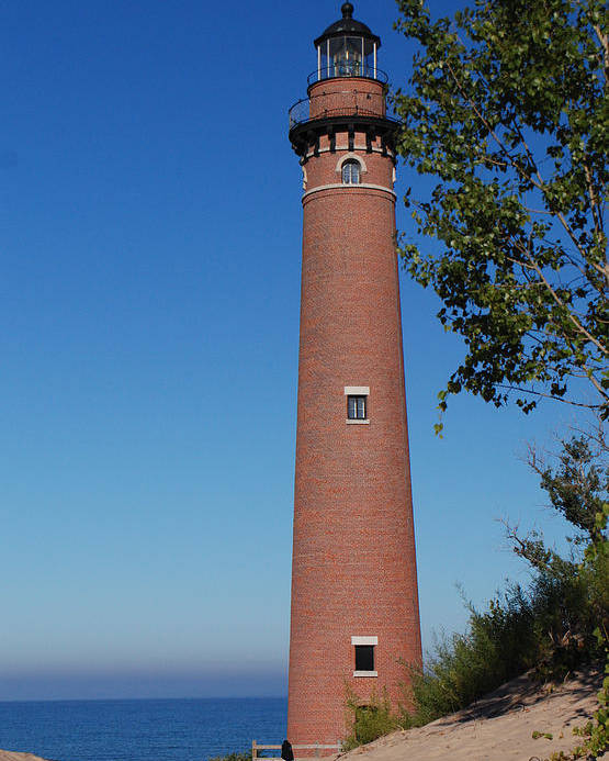 Little Sable Point Lighthouse Poster featuring the photograph Little Sable Point Lighthouse by Grace Grogan