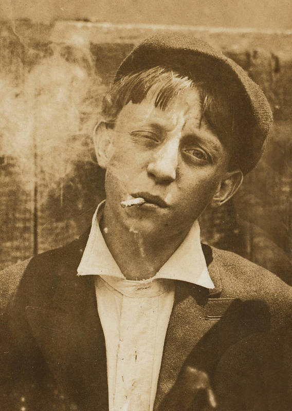1910s Poster featuring the photograph Portrait Of A Boy Smoking, Original by Everett
