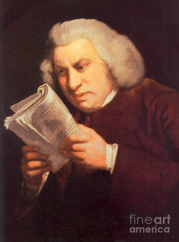 History Poster featuring the photograph Samuel Johnson, English Author by Photo Researchers