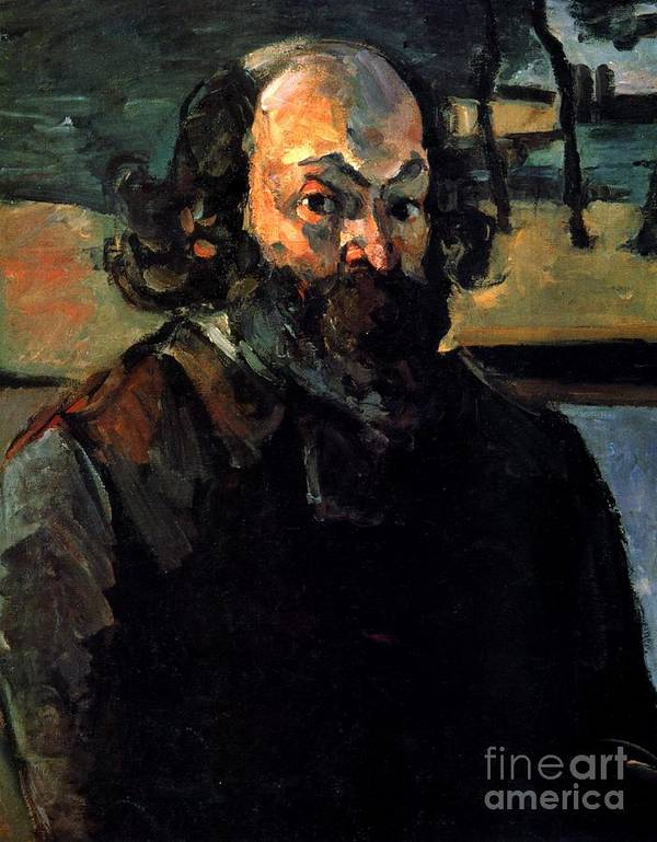 Cezanne Poster featuring the painting Self Portrait by Extrospection Art