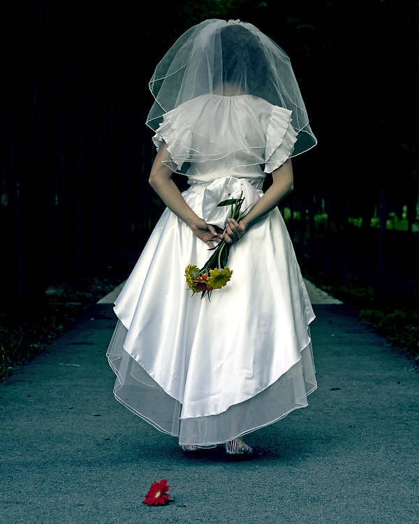 Female Poster featuring the photograph The Bride by Joana Kruse
