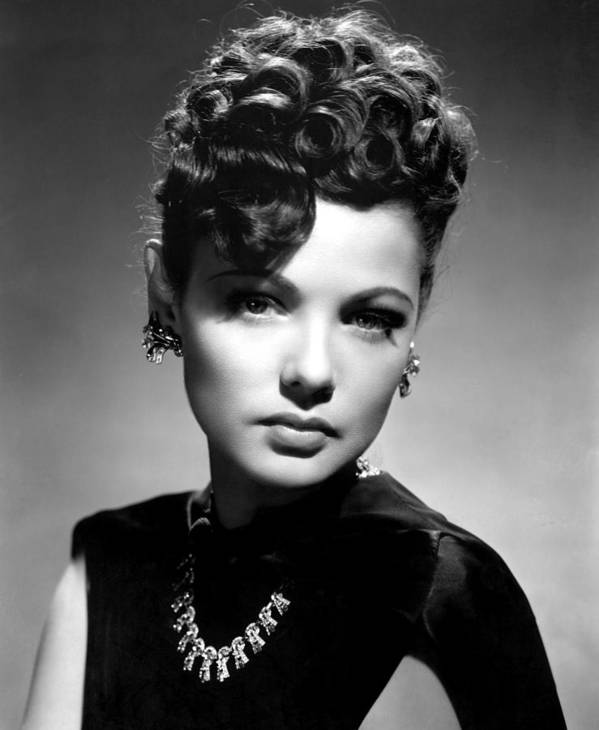 1940s Portraits Poster featuring the photograph The Shanghai Gesture, Gene Tierney by Everett
