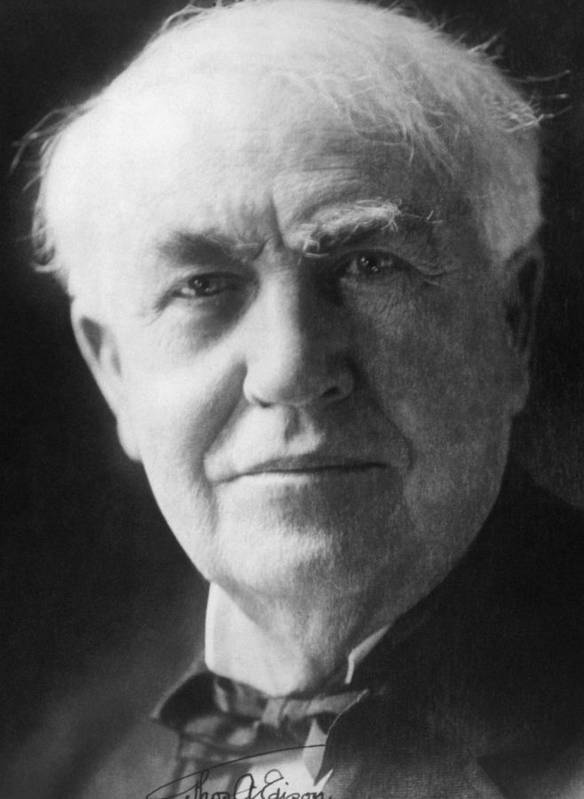 Edison Poster featuring the photograph Thomas Alva Edison 1847-1931 by Everett