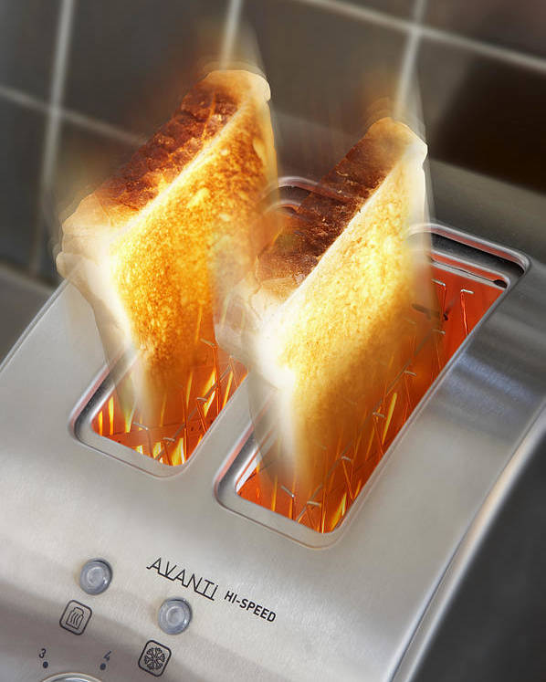 Appliance Poster featuring the photograph Toast by Mark Sykes