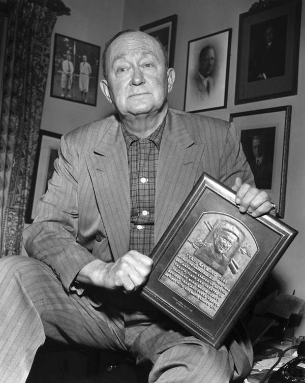 1957 Poster featuring the photograph Ty Cobb (1886-1961) by Granger