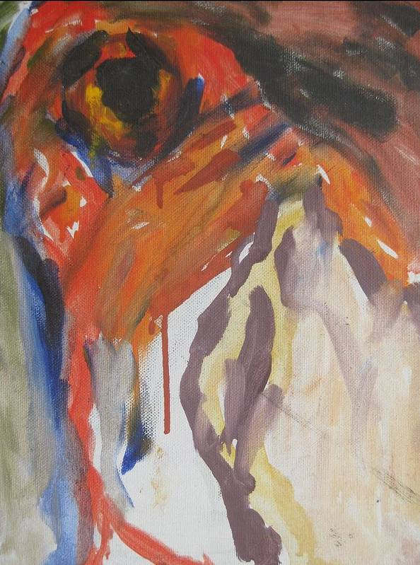 Fine Art Poster featuring the painting Untitled by Iris Gill