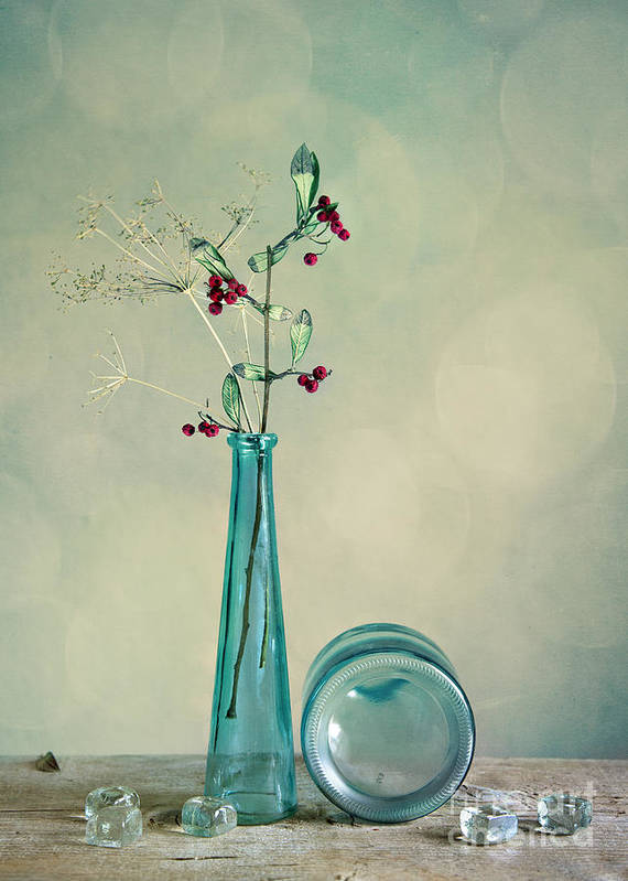 Glass Poster featuring the photograph Autumn Still Life by Nailia Schwarz