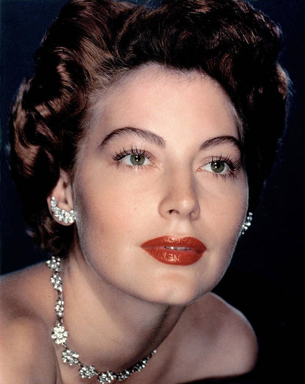 1950s Portraits Poster featuring the photograph Ava Gardner by Everett