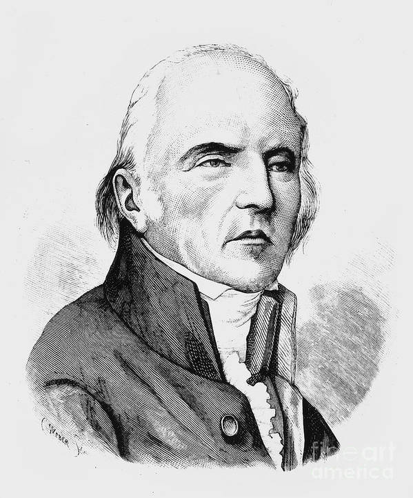 18th Century Poster featuring the photograph Chevalier De Lamarck by Granger
