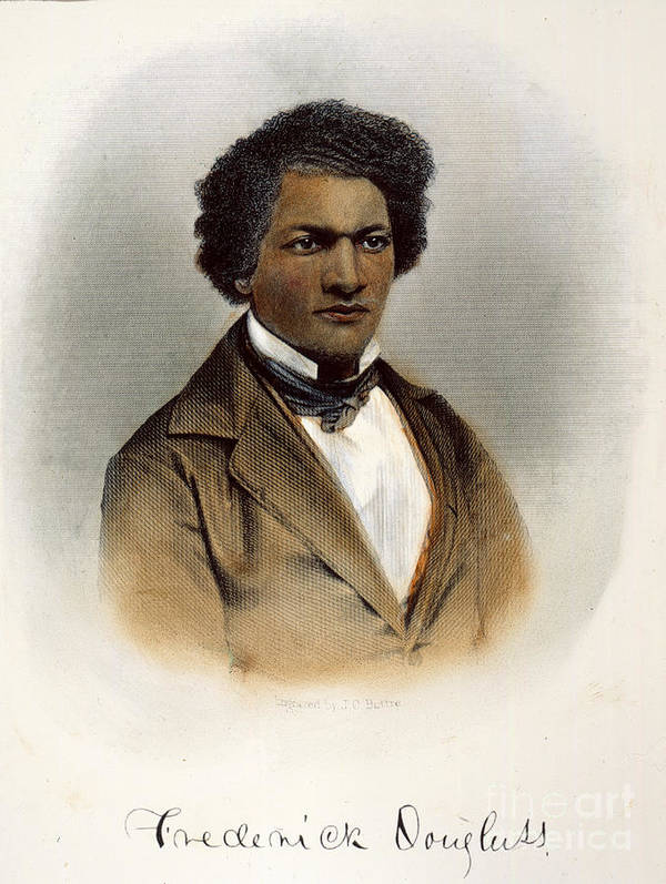 1854 Poster featuring the photograph Frederick Douglass by Granger