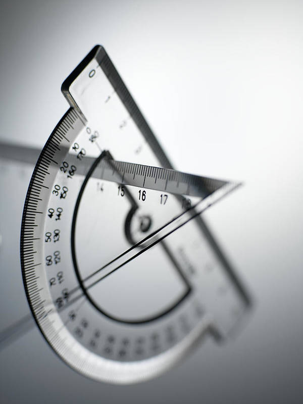Protractor Poster featuring the photograph Geometry Set by Tek Image