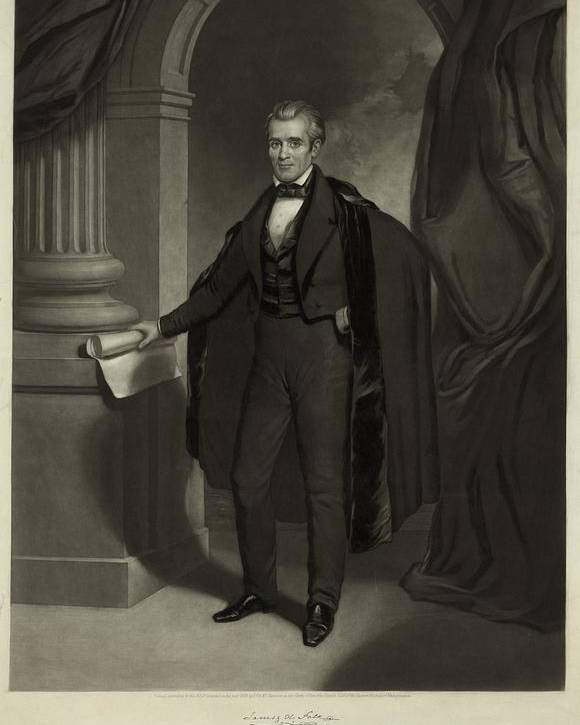 History Poster featuring the photograph James Polk 1795-1849 President by Everett