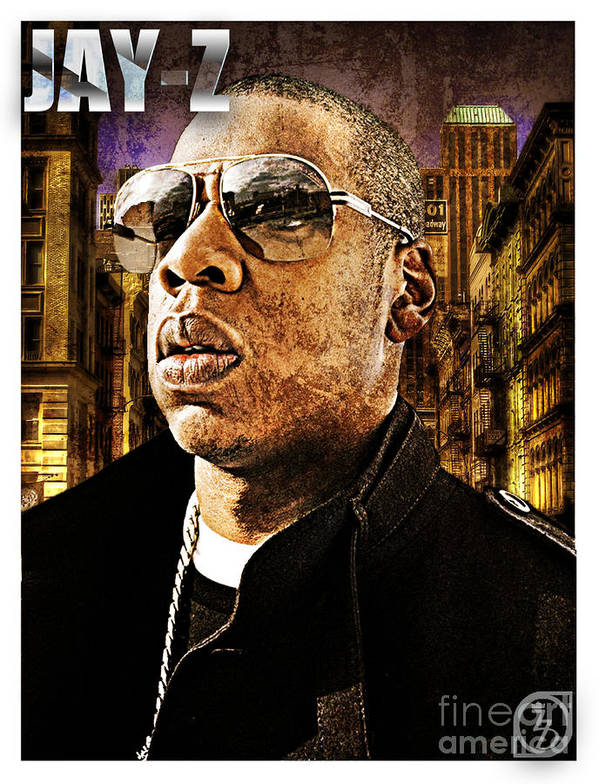 Music Poster featuring the digital art Jay Z by The DigArtisT