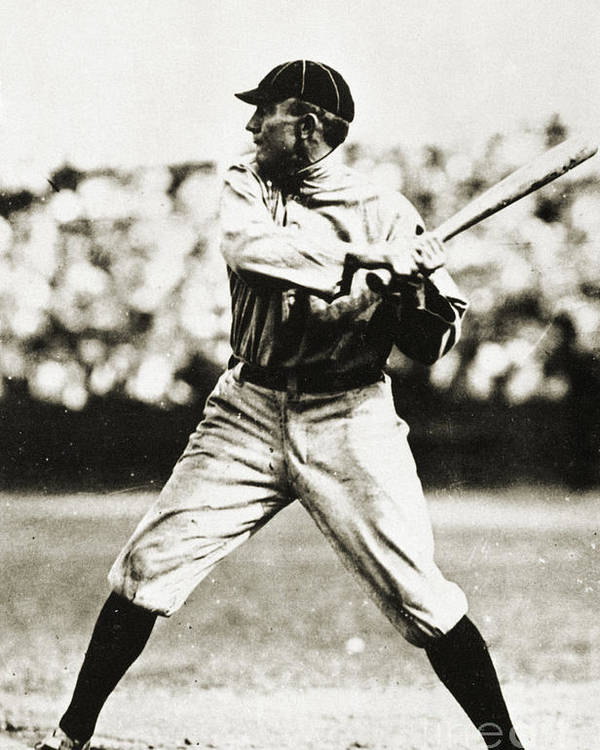 20th Century Poster featuring the photograph Ty Cobb (1886-1961) by Granger