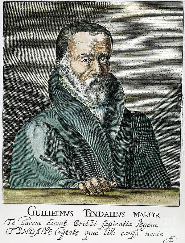 16th Century Poster featuring the photograph William Tyndale (1492?-1536) by Granger