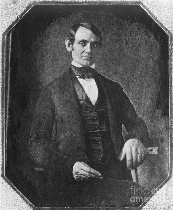 1846 Poster featuring the photograph Abraham Lincoln by Granger