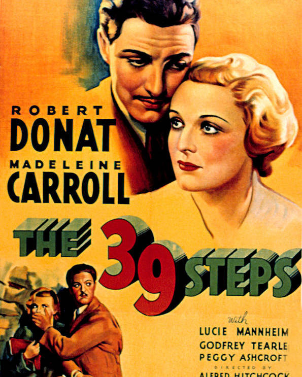1930s Movies Poster featuring the photograph 39 Steps, The, Robert Donat, Madeleine by Everett