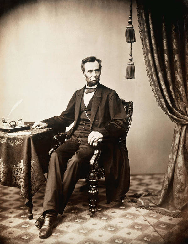 1800s Poster featuring the photograph Abraham Lincoln 1809-1865, U.s by Everett