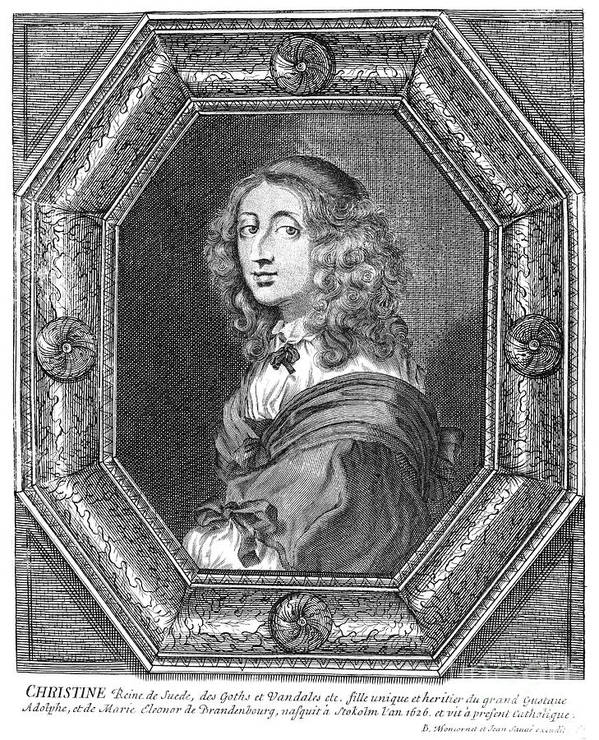 Christina Poster featuring the photograph Christina (1626-1689) by Granger