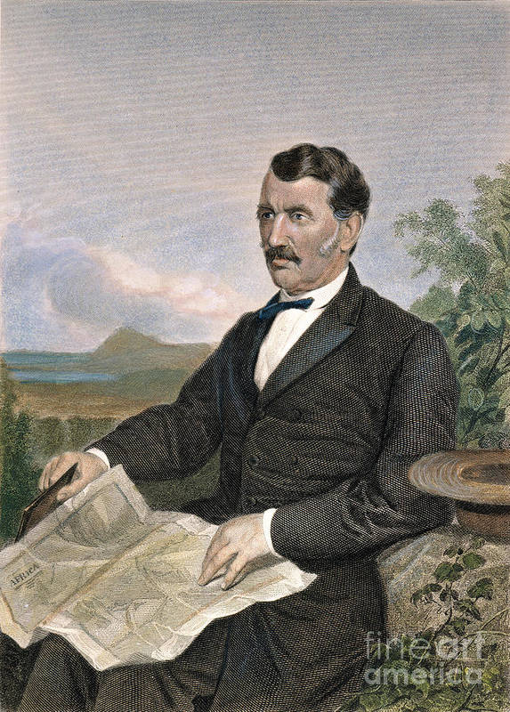 19th Century Poster featuring the photograph David Livingstone by Granger