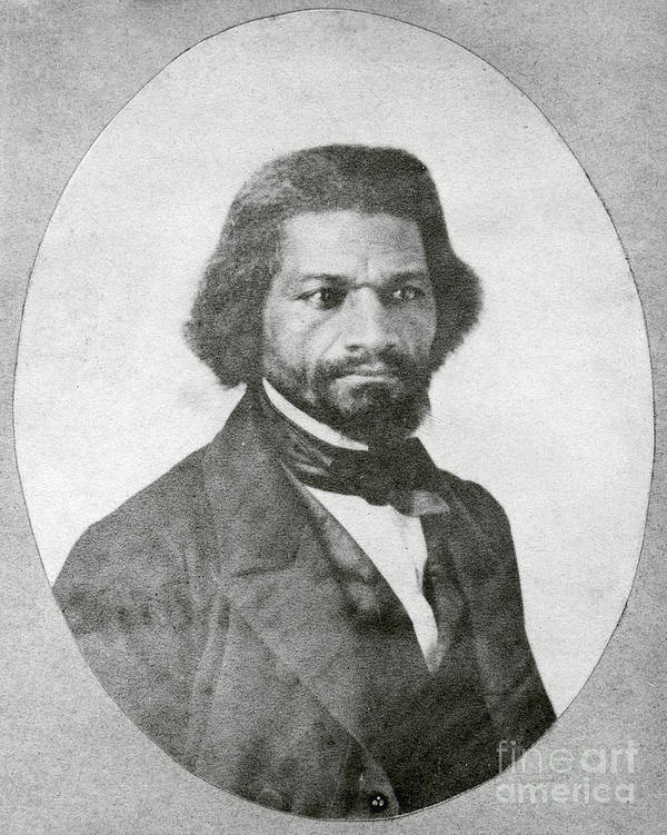 History Poster featuring the photograph Frederick Douglass, African-american by Photo Researchers
