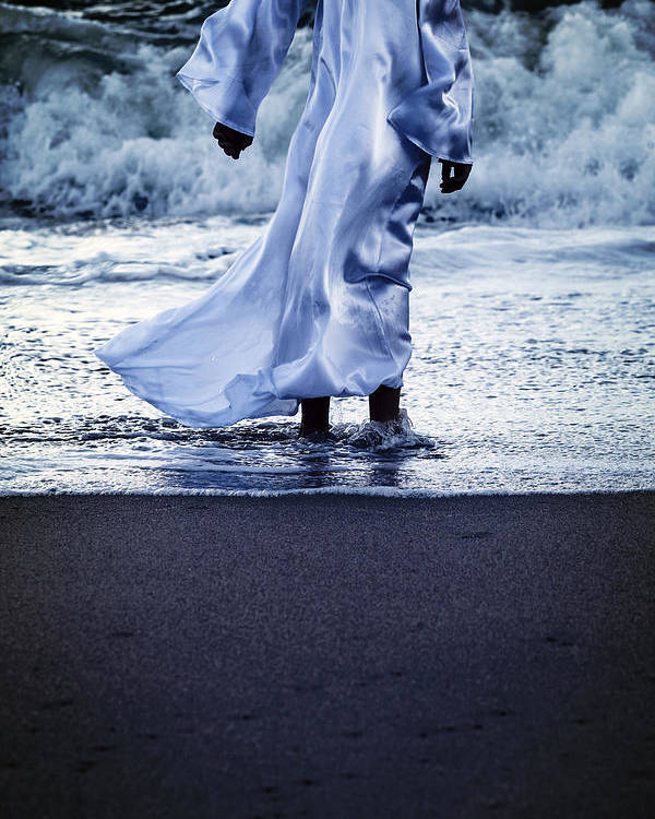 Girl Poster featuring the photograph Girl At The Sea by Joana Kruse