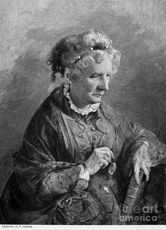 1876 Poster featuring the photograph Harriet Beecher Stowe by Granger