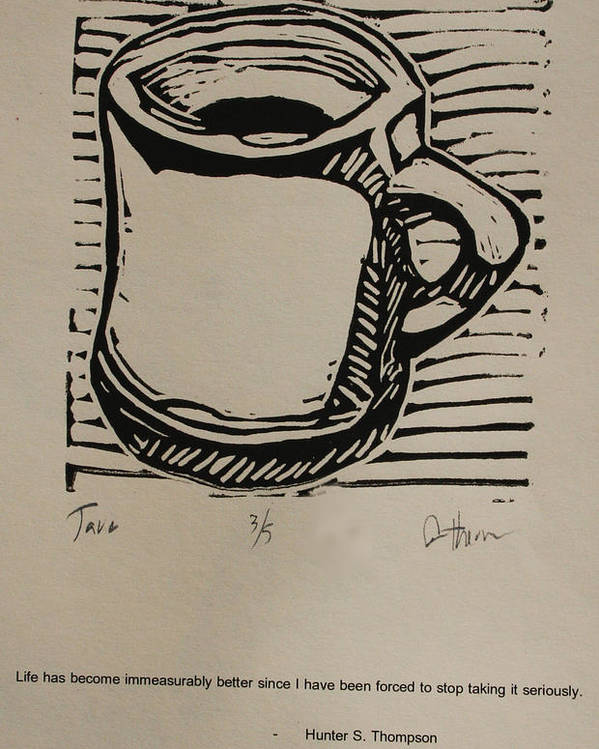 Java Poster featuring the drawing Java by William Cauthern