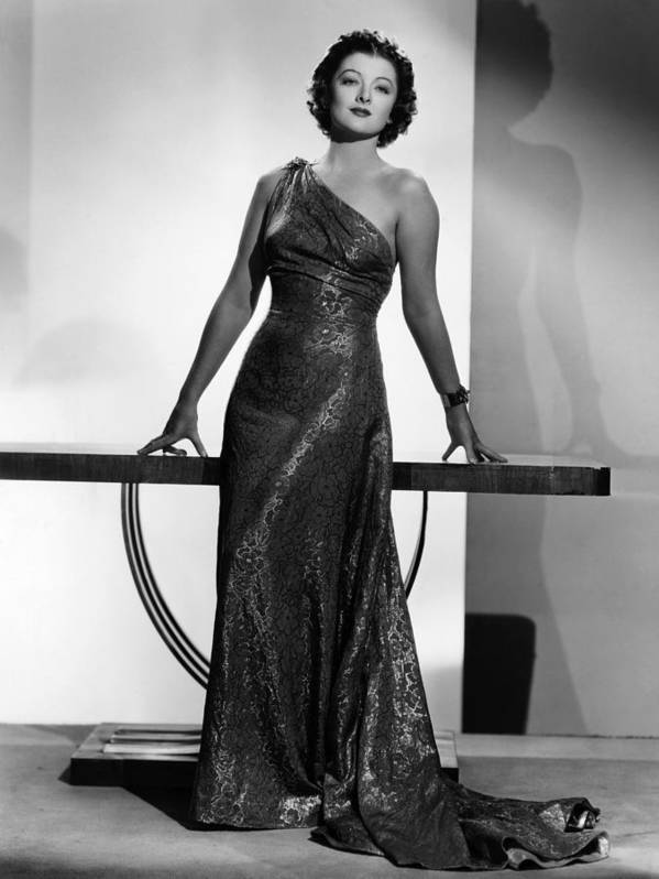 11x14lg Poster featuring the photograph Myrna Loy, Mgm Portrait By Clarence by Everett