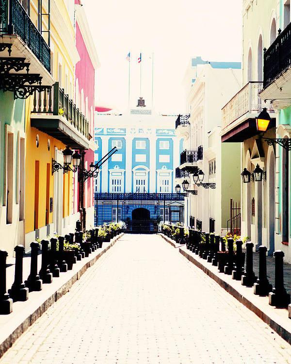 San Juan Poster featuring the photograph Old San Juan Puerto Rico by Kim Fearheiley