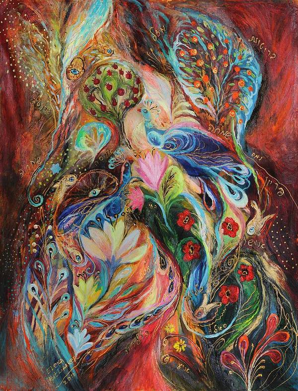 Original Poster featuring the painting The Magic Garden by Elena Kotliarker
