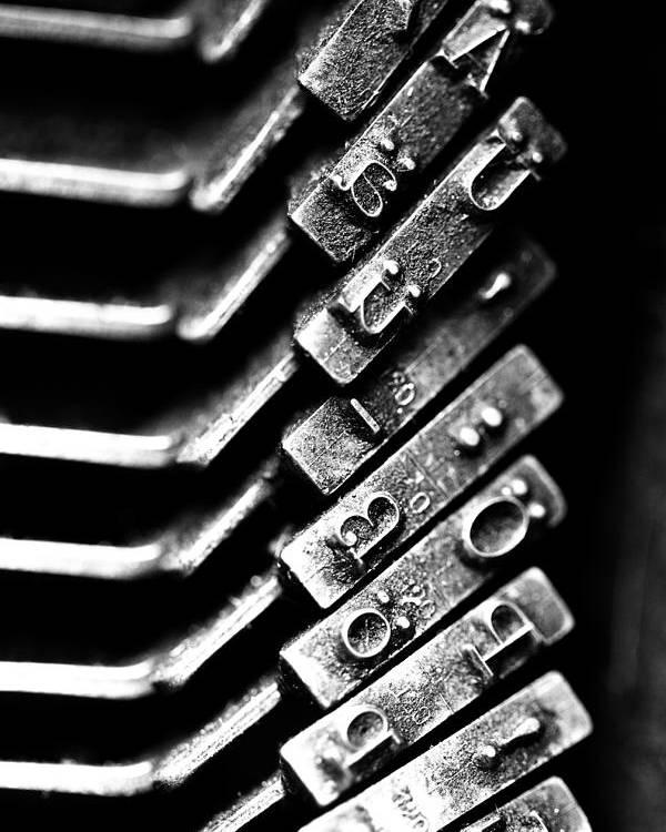 Typewriter Keys Poster featuring the photograph Typewriter Keys by Falko Follert