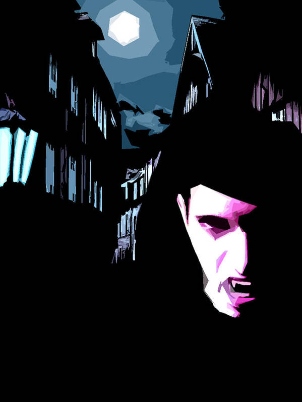 Goth Poster featuring the digital art Untitled by Russell Clenney