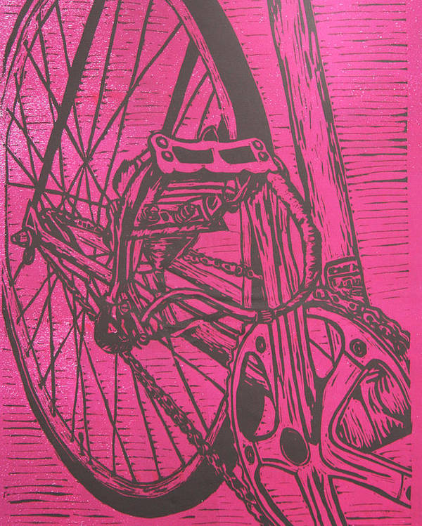 Bike Poster featuring the drawing Bike 3 by William Cauthern