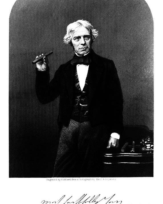 Faraday Poster featuring the photograph Michael Faraday, English Physicist by Science Source