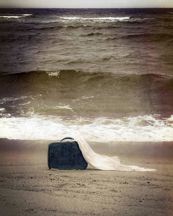 Suitcase Poster featuring the photograph Suitcase by Joana Kruse