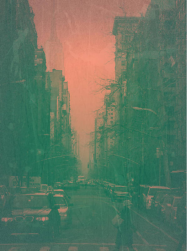 New York Poster featuring the photograph 5th Avenue by Naxart Studio