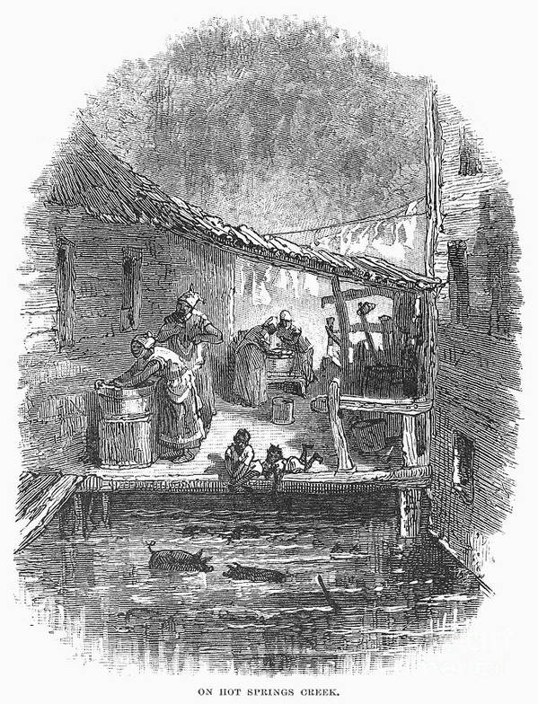African American Poster featuring the photograph Arkansas: Hot Springs, 1878 by Granger