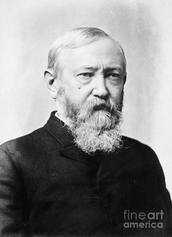 1888 Poster featuring the photograph Benjamin Harrison by Granger