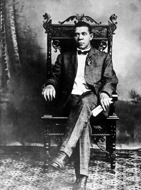 African American Poster featuring the photograph Booker T. Washington 1856-1915 by Everett
