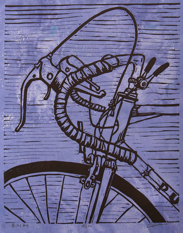 Bike Poster featuring the drawing Bike 2 by William Cauthern