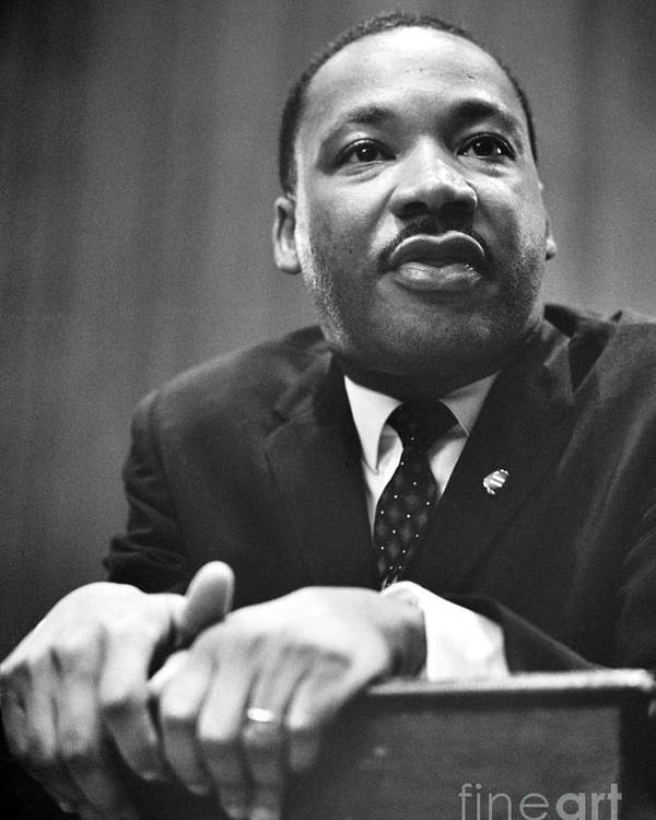 1964 Poster featuring the photograph Martin Luther King, Jr by Granger