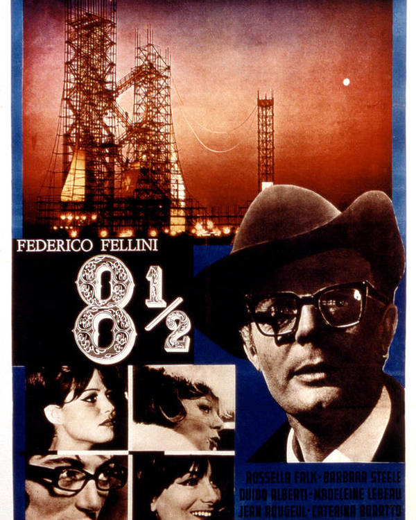 1960s Movies Poster featuring the photograph 8 12, Marcello Mastroianni, 1963 by Everett