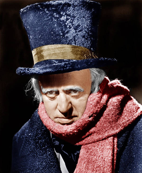 1950s Portraits Poster featuring the photograph A Christmas Carol, Alastair Sim, 1951 by Everett
