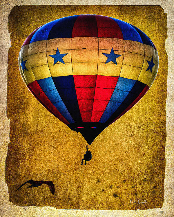 Vintage Poster featuring the photograph A Man And His Balloon by Bob Orsillo