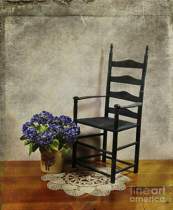 Ladderback Poster featuring the photograph A Simpler Time by Judi Bagwell