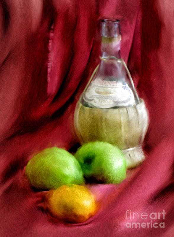 Red Poster featuring the photograph A Still Life by Peggy Starks